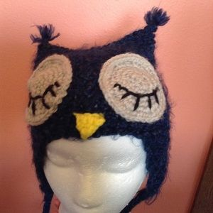 hand knit OWL HAT for kids super-soft 2-5 years